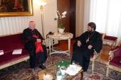 Митрополит Волоколамский Иларион встретился с кардиналом Анджело Сколой