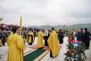 Патриарший визит в Горноалтайскую епархию. Закладка храма святых Петра и Февронии Муромских в Горно-Алтайске