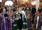 В праздник Воздвижения Креста Господня Предстоятель Русской Церкви совершил Божественную литургию в Иосифо-Волоцком монастыре