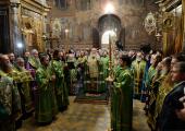 В канун дня преставления преподобного Сергия Радонежского Святейший Патриарх Кирилл совершил всенощное бдение в Троице-Сергиевой лавре