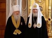 Патриаршее служение в день памяти преподобного Сергия Радонежского. Вручение церковных наград