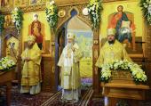 Предстоятель Русской Церкви освятил храм святых бессребреников Космы и Дамиана в Космодемьянском г. Москвы
