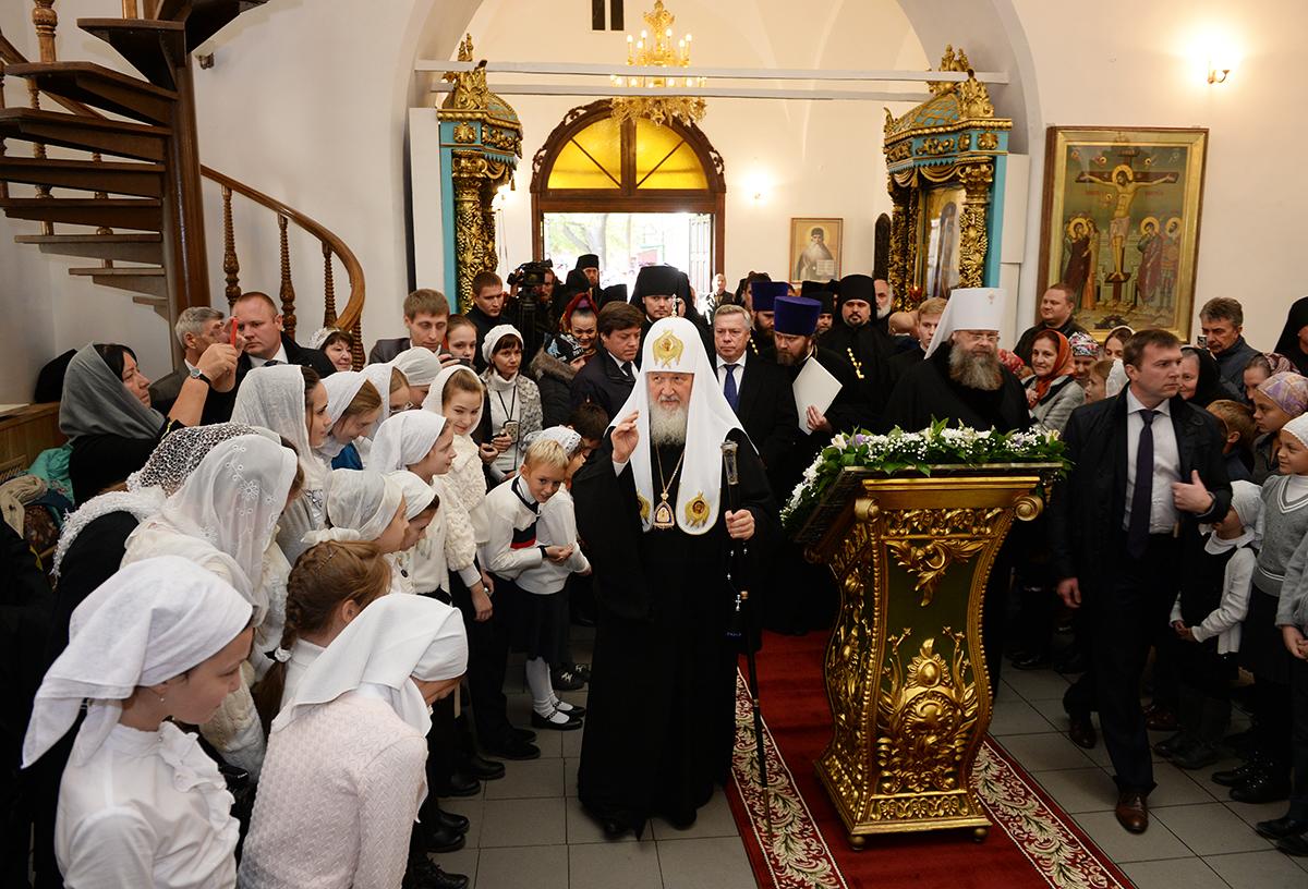 Патриарший визит в Донскую митрополию. Встреча с атаманами казачьих войск