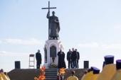 В Батайске Ростовской области освящен памятник святому равноапостольному князю Владимиру