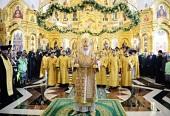 Предстоятель Русской Церкви совершил освящение храма и памятника святым равноапостольным Кириллу и Мефодию в Саранске