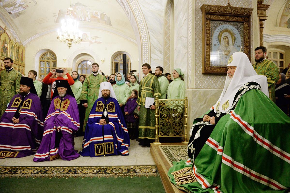 Наречение архимандрита Тихона (Шевкунова) во епископа Егорьевского и архимандрита Антония (Севрюка) во епископа Богородского
