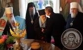 На Афоне торжественно отметили 100-летний юбилей игумена Пантелеимонова монастыря схиархимандрита Иеремии