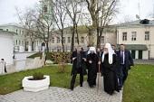Святейший Патриарх Кирилл осмотрел архитектурный комплекс Черниговского Патриаршего подворья Москвы