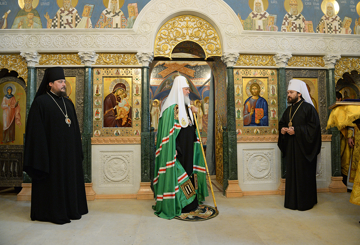 Патриаршее служение на Черниговском подворье г. Москвы