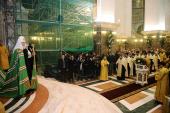Святейший Патриарх Кирилл совершил всенощное бдение в кафедральном соборе Христа Спасителя в Калининграде