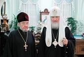 Поздравление Святейшего Патриарха Кирилла протоиерею Николаю Гундяеву с 75-летием со дня рождения