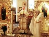 В день своего рождения Святейший Патриарх Кирилл совершил Литургию в домовом храме Патриаршей резиденции в Переделкине