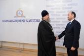 Состоялась встреча митрополита Астанайского и Казахстанского Александра с председателем Комитета по делам религий Республики Казахстан