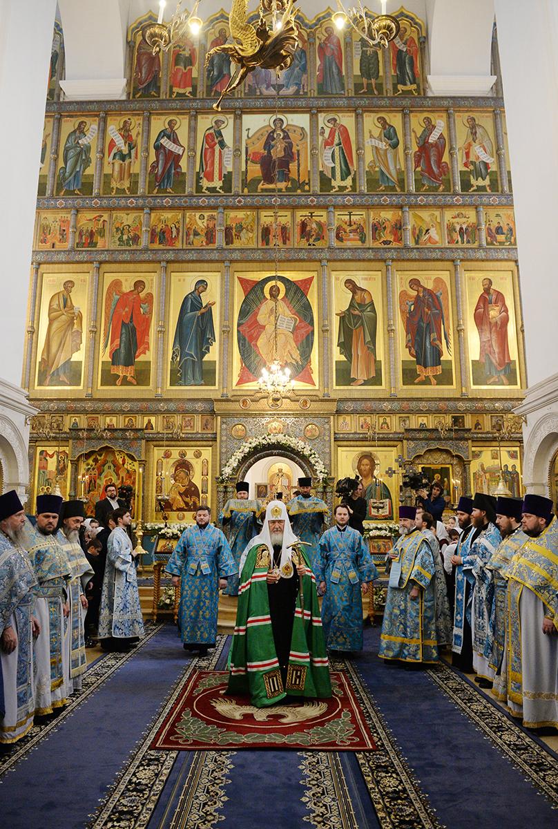 Патриаршее служение в Зачатьевском ставропигиальном монастыре. Хиротония архимандрита Саввы (Никифорова) во епископа Валуйского и Алексеевского