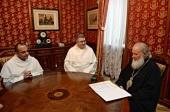 Святейший Патриарх Кирилл принял настоятеля и эконома-администратора базилики святителя Николая в Бари