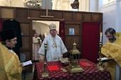 Епископ Подольский Тихон возглавил торжества по случаю 225-летия основания Никольского храма в Токае (Венгрия)