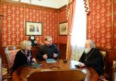 Состоялась рабочая встреча Святейшего Патриарха Кирилла с председателем Императорского православного палестинского общества С.В. Степашиным