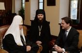 Святейший Патриарх Кирилл встретился с министром юстиции Сербии Николой Селаковичем