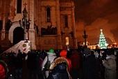 Православная молодежь Москвы поздравила Святейшего Патриарха Кирилла с праздником Рождества Христова