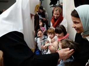 В праздник Рождества Христова Святейший Патриарх Кирилл посетил Свято-Софийский детский дом в Москве