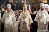 В праздник Рождества Христова митрополит Киевский Онуфрий совершил Литургию в Киево-Печерской лавре