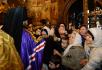 Патриаршее служение в праздник Собора Пресвятой Богородицы в Успенском соборе Московского Кремля. Литургия. Хиротония архимандрита Павла (Григорьева) во епископа Колыванского