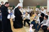 Митрополит Киевский Онуфрий посетил детский дом при Банченском монастыре