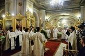 В канун праздника Крещения Господня Святейший Патриарх Кирилл совершил всенощное бдение в Богоявленском кафедральном соборе г. Москвы