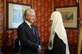 Мэр Москвы С.С. Собянин поздравил Святейшего Патриарха Кирилла с годовщиной интронизации