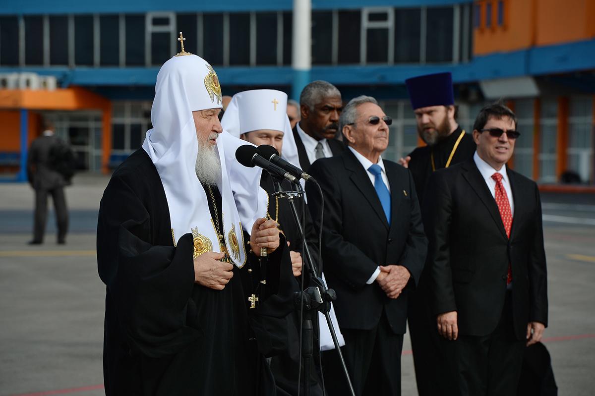 Визит Святейшего Патриарха Кирилла в Латинскую Америку. Прибытие в Гавану