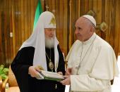 Состоялась встреча Святейшего Патриарха Кирилла с Папой Римским Франциском