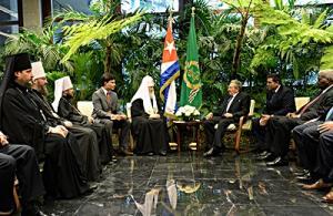 Святейший Патриарх Кирилл посетил Мемориал Хосе Марти в Гаване и встретился с Председателем Государственного совета Республики Куба Раулем Кастро