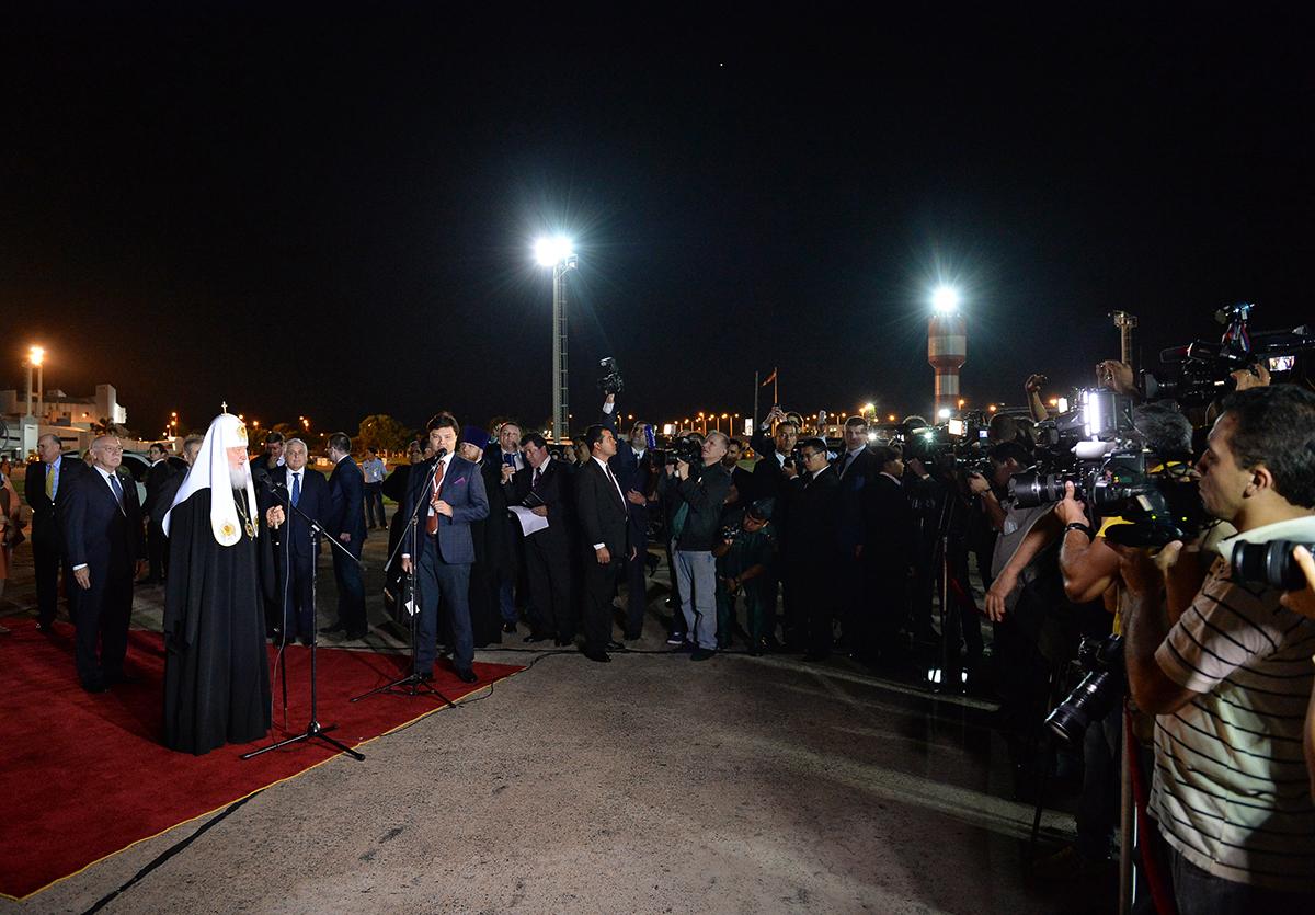 Визит Святейшего Патриарха Кирилла в Латинскую Америку. Прибытие в Асунсьон