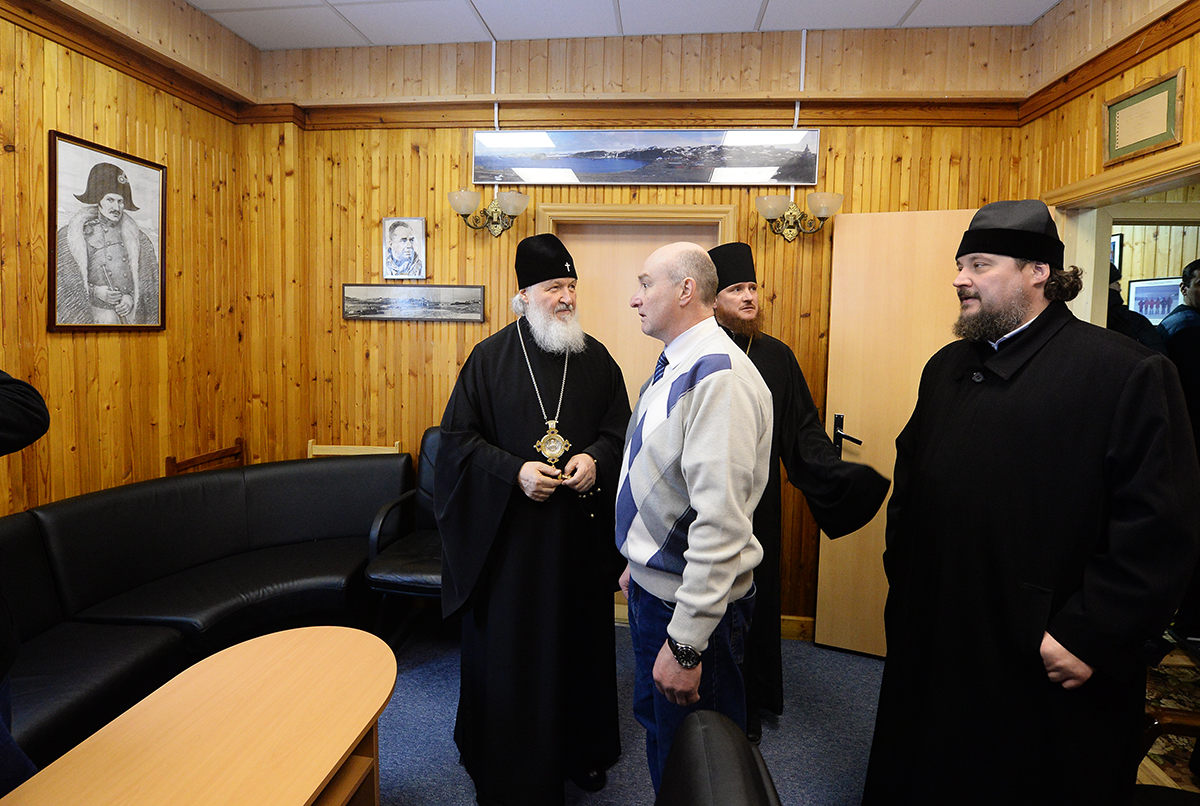 Посещение Святейшим Патриархом Кириллом российской антарктической станции «Беллинсгаузен»