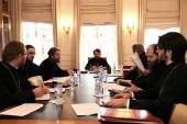 Под председательством митрополита Волоколамского Илариона прошли рабочие заседания по подготовке учебников по гомилетике и пастырскому богословию