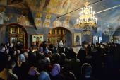Проповедь Святейшего Патриарха Кирилла во вторник первой седмицы Великого поста после утреннего богослужения в Новоспасском ставропигиальном монастыре