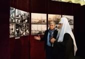 Святейший Патриарх Кирилл возглавил открытие фотовыставки «Под покровом Пресвятой Богородицы: жизнь и быт монастырей Афона»
