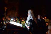 В среду первой седмицы Великого поста Святейший Патриарх Кирилл совершил повечерие с чтением Великого канона прп. Андрея Критского в Саввино-Сторожевском монастыре
