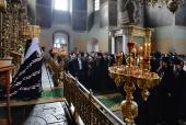 Проповедь Святейшего Патриарха Кирилла в четверг первой седмицы Великого поста после утреннего богослужения в Донском ставропигиальном монастыре
