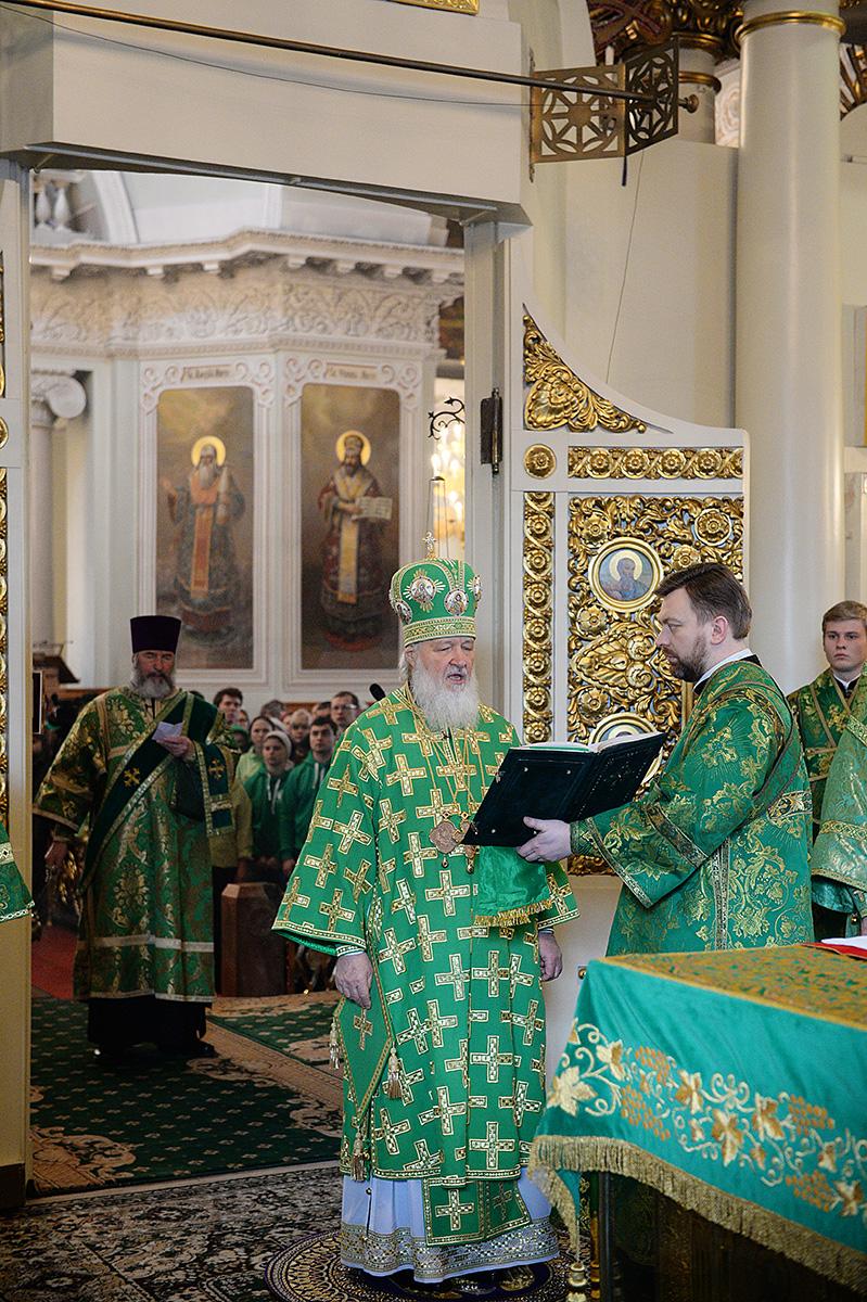 Патриаршее служение в день памяти святого благоверного князя Даниила Московского в Даниловом ставропигиальном монастыре
