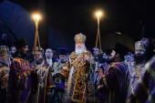 В канун Недели Торжества Православия Святейший Патриарх Кирилл совершил всенощное бдение в Сретенском ставропигиальном монастыре