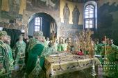 В праздник Собора преподобных отцов Киево-Печерских Предстоятель Украинской Православной Церкви совершил Литургию в Киево-Печерской лавре