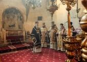 В Неделю 2-ю Великого поста председатель Синодального отдела по монастырям и монашеству совершил Литургию в Успенском соборе Московского Кремля