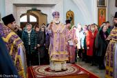 В Неделю вторую Великого поста Патриарший экзарх совершил Литургию в Свято-Духовом соборе Минска