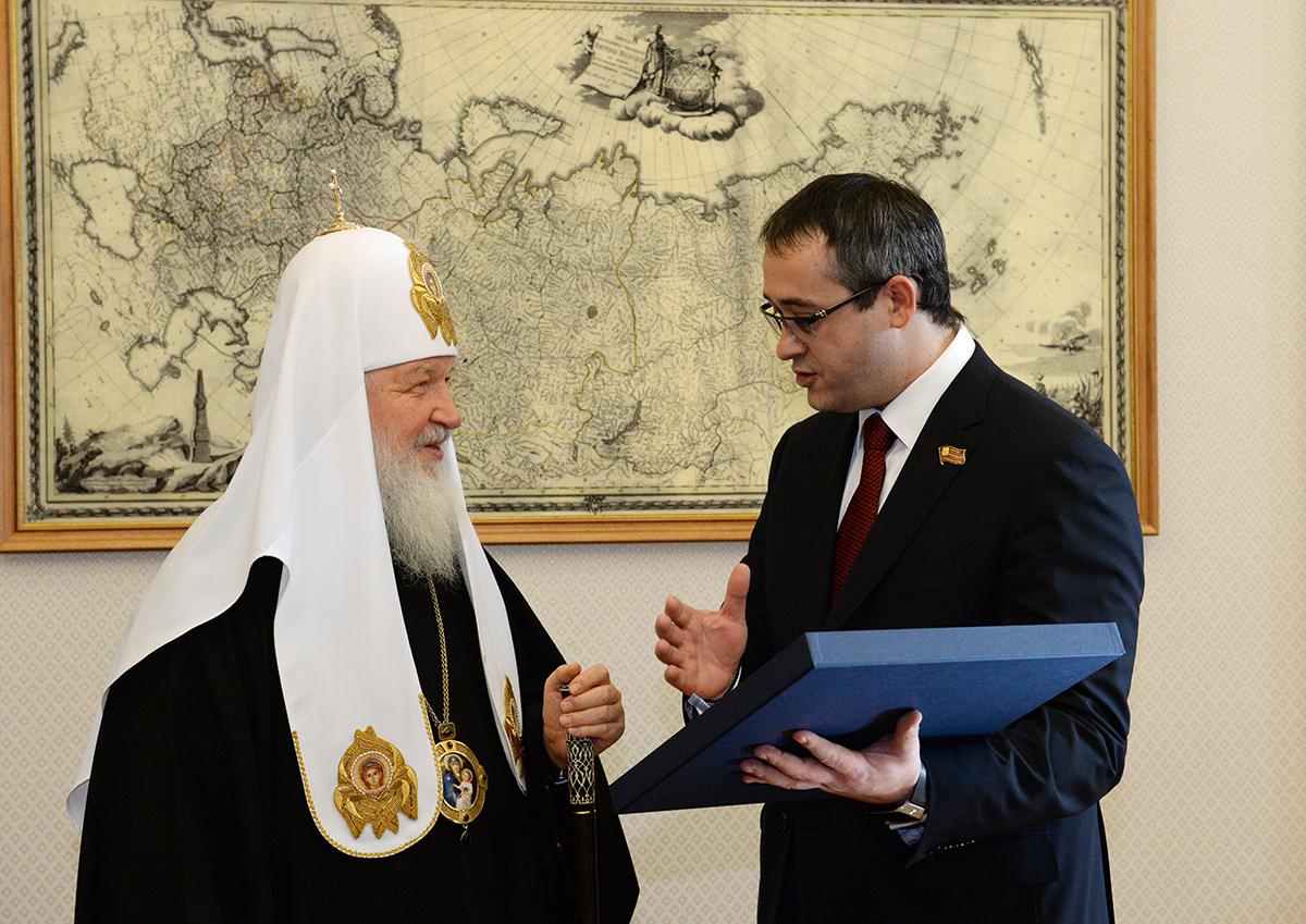 Посещение Святейшим Патриархом Кириллом Московской городской Думы
