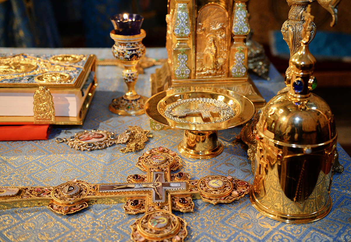 Патриаршее служение в праздник Благовещения Пресвятой Богородицы в Благовещенском соборе Московского Кремля