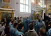 Патриарший визит в Санкт-Петербургскую митрополию. Утреня с чтением Акафиста Пресвятой Богородице в домовом храме главного корпуса СПбДА