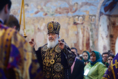 Патриарший визит в Санкт-Петербургскую митрополию. Посещение Александро-Свирского монастыря