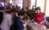 В апреле Синодальный отдел по церковной благотворительности передал Донецкой епархии 23 тонны гуманитарной помощи