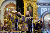 Патриаршее служение в Великий четверг. Божественная литургия и чин умовения ног в Храме Христа Спасителя